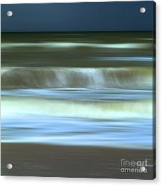 Waves Acrylic Print by Bernard Jaubert