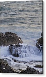Waves Breaking Off Marginal Way Acrylic Print
