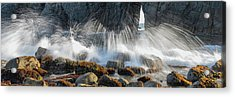 Waves Breaking On Rocks, Harris Beach Acrylic Print by Panoramic Images