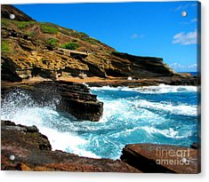 Acrylic Print featuring the photograph Waves Crashing by Kristine Merc