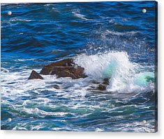 Waves Crashing On Rocks Acrylic Print