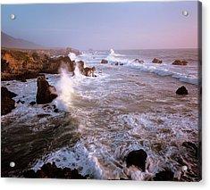 Waves Crashing On The Rugged Big Sur Acrylic Print
