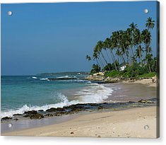 Waves Cresting Along Beach, A2 Road Acrylic Print by Panoramic Images