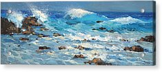 Acrylic Print featuring the painting Waves by Dmitry Spiros