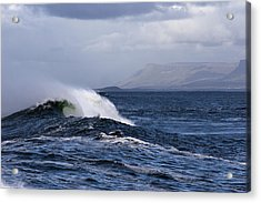 Waves In Easkey 2 Acrylic Print by Tony Reddington