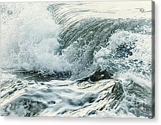 Waves In Stormy Ocean Acrylic Print by Elena Elisseeva