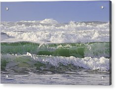 Waves In The Sun Acrylic Print by Adria Trail