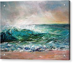 Acrylic Print featuring the painting Waves by Jieming Wang