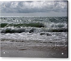Waves Acrylic Print by Karen E Phillips