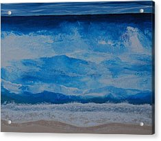 Acrylic Print featuring the painting Waves by Linda Bailey