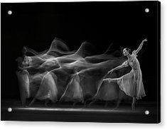 Waves Of Balerina Acrylic Print by Antonyus Bunjamin (abe)