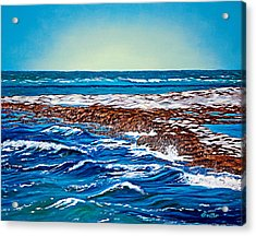 Waves Of Blue Acrylic Print