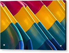Waves Of Color Acrylic Print
