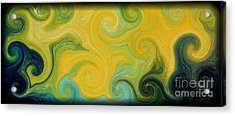 Waves Of Gold Acrylic Print by Michael Grubb