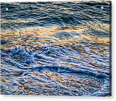 Waves Of Pacific Ocean Acrylic Print by SM Shahrokni