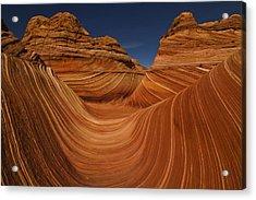 Waves Of Sandstone Acrylic Print by Kenan Sipilovic