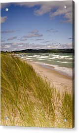 Waves Of Water And Grass Acrylic Print by Thomas Pettengill