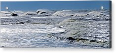 Waves Off Sandfiddler Rd Corolla Nc Acrylic Print by Greg Reed
