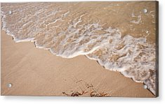 Waves On The Beach Acrylic Print by Adam Romanowicz