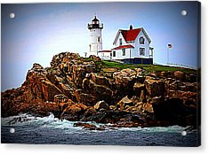 Waves On The Nubble 2 Acrylic Print