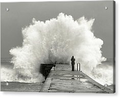 Waves Photographer Acrylic Print by Mikel Lastra