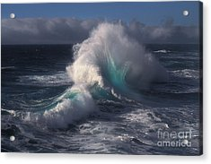 Waves Acrylic Print by Ron Sanford