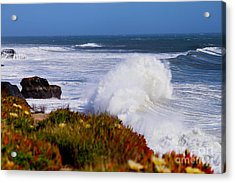 Acrylic Print featuring the photograph Waves by Theresa Ramos-DuVon