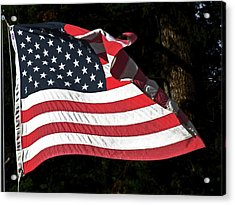 Acrylic Print featuring the photograph Waving Flag by Ron Roberts