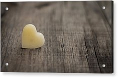Wax Heart Acrylic Print by Aged Pixel
