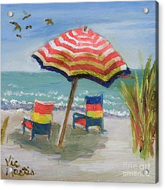 Acrylic Print featuring the painting Way To Go by Vic  Mastis