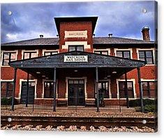 Acrylic Print featuring the photograph Waycross Depot by Laura Ragland