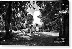 Wayland's Smithy Monochrome Acrylic Print by Tim Gainey