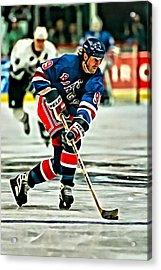 Wayne Gretzky Skating Acrylic Print