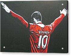 Wayne Rooney - Manchester United Fc 2 Acrylic Print by Geo Thomson