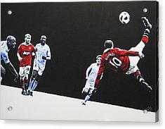 Wayne Rooney - Manchester United Fc Acrylic Print by Geo Thomson