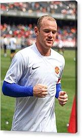 Wayne Rooney 5 Acrylic Print by Keith R Crowley