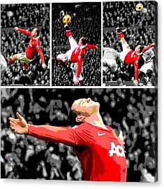 Wayne Rooney Overhead Kick Vs Manchester City Acrylic Print
