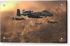 Acrylic Print featuring the painting Waypoint Alpha by Dave Luebbert