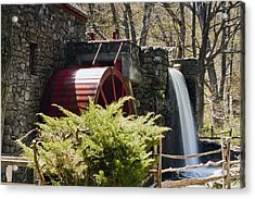 Wayside Grist Mill 3 Acrylic Print by Dennis Coates