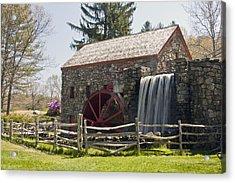 Wayside Grist Mill 5 Acrylic Print by Dennis Coates