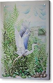 Wrightsville Blue Heron Acrylic Print