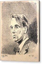 W.b. Yeats Acrylic Print by John  Nolan