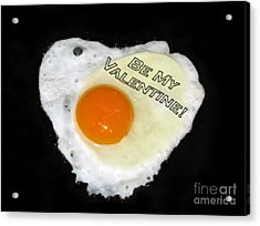 We Are Like Egg And Pepper. Be My Valentine Acrylic Print by Ausra Huntington nee Paulauskaite