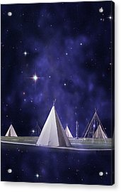 We Are One Tribe Acrylic Print by Laura Fasulo