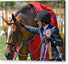 Acrylic Print featuring the photograph We Did It by Barbara Dudley