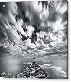 We Have Had Lots Of High Clouds And Acrylic Print by Larry Marshall