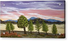 Acrylic Print featuring the painting We Learn To Bend To The Wind by Susan Culver