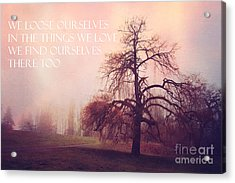 Acrylic Print featuring the photograph We Loose Ourselves by Sylvia Cook