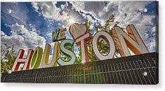 We Love Houston Acrylic Print