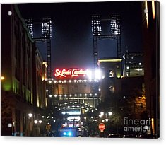 Acrylic Print featuring the photograph We Love Our Redbirds by Kelly Awad